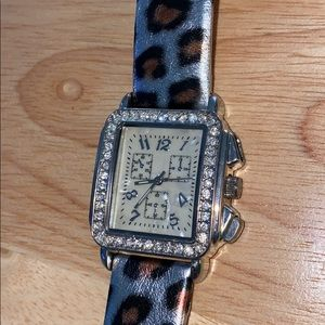 Leather Leopard watch